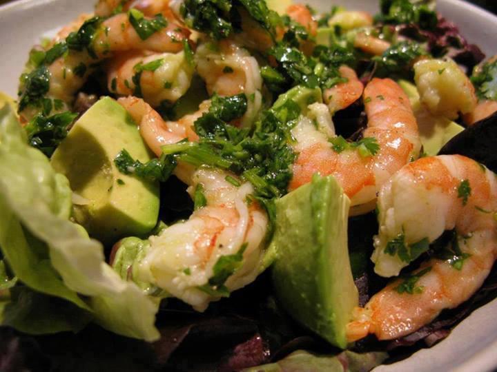 Avocado Koriander Garnalen Salade
